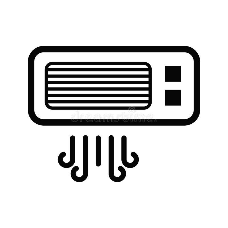 Illustrazione di logo di vettore dell'icona condizionata dell'aria illustrazione di stock