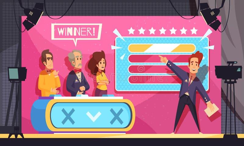 Illustrazione di manifestazione di parola di congettura della TV illustrazione vettoriale