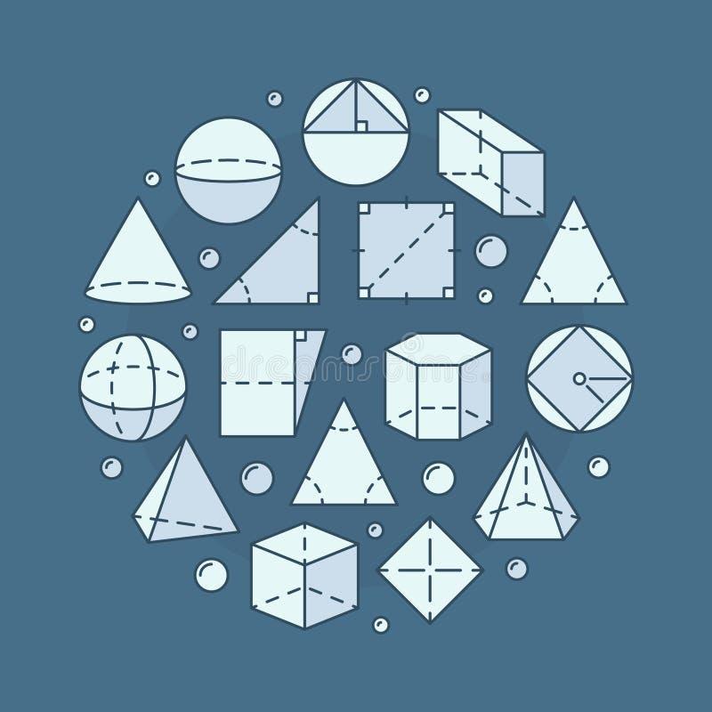 Illustrazione di matematica e della geometria illustrazione di stock