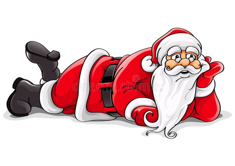 Illustrazione di menzogne di vettore di natale del Babbo Natale illustrazione di stock