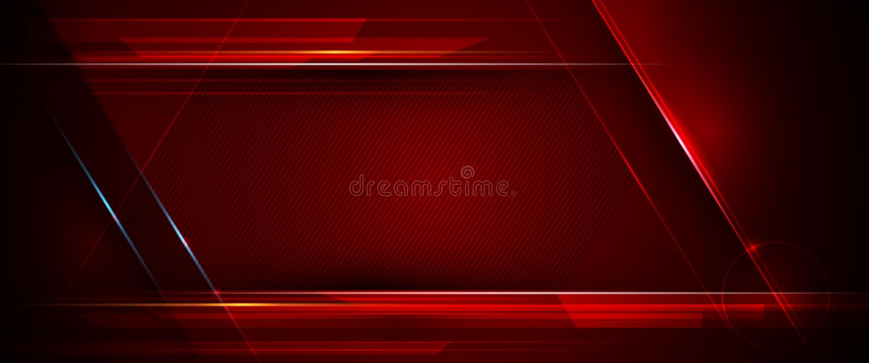 Illustrazione di metallico blu, rosso e nero astratto con il raggio luminoso e la linea lucida Progettazione della struttura del  royalty illustrazione gratis