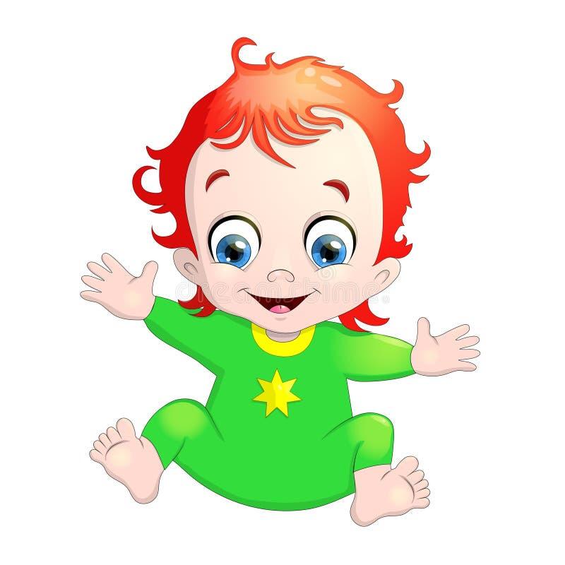 Illustrazione di molto sveglio un bambino illustrazione di stock