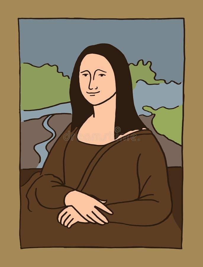 Illustrazione di Mona Lisa illustrazione vettoriale