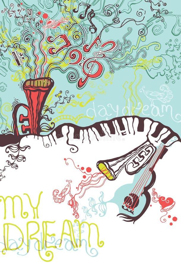 Illustrazione di musical di fantasia. royalty illustrazione gratis