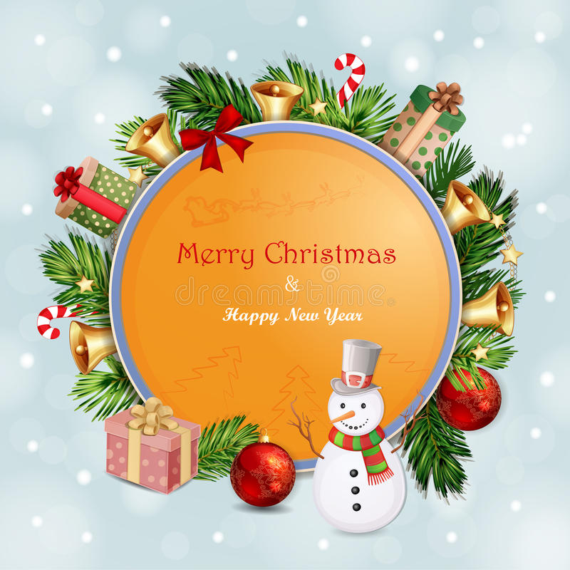 Illustrazione di Natale con le campane di Natale royalty illustrazione gratis