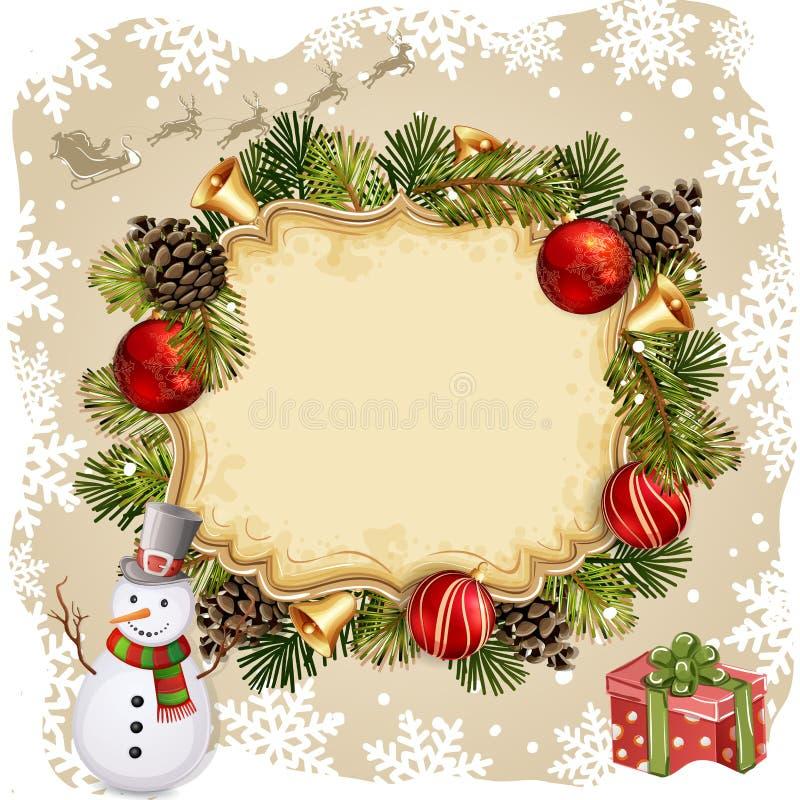 Illustrazione di Natale con le campane di Natale illustrazione di stock