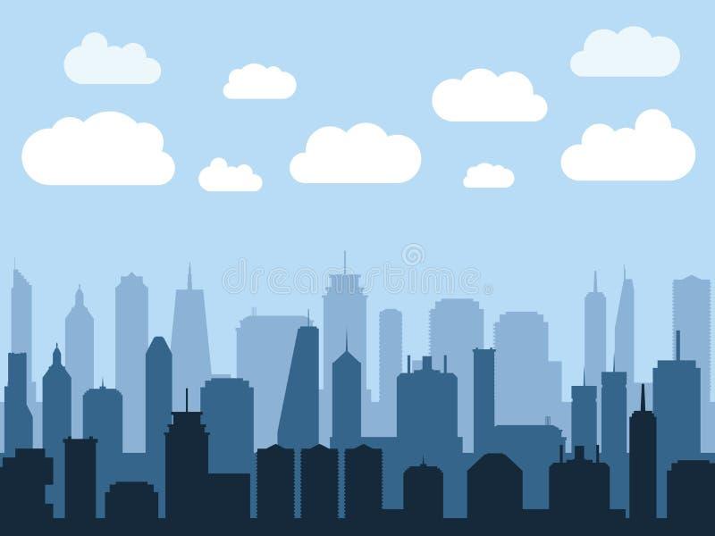 Illustrazione di paesaggio urbano illustrazione di stock