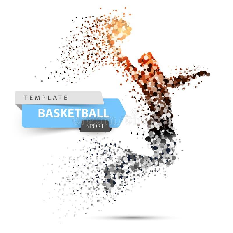Illustrazione di pallacanestro del punto Il giocatore di pallacanestro getta la palla illustrazione vettoriale