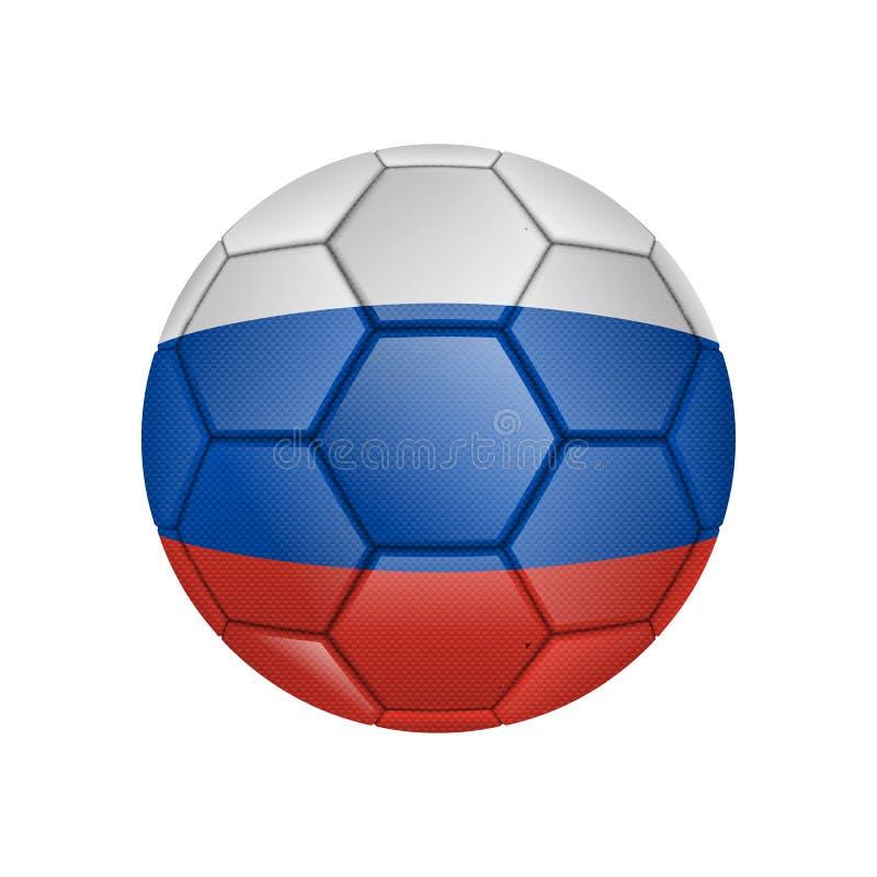 illustrazione di pallone da calcio realistico dipinta nella bandiera nazionale della Russia per i apps mobili di web e di concett royalty illustrazione gratis