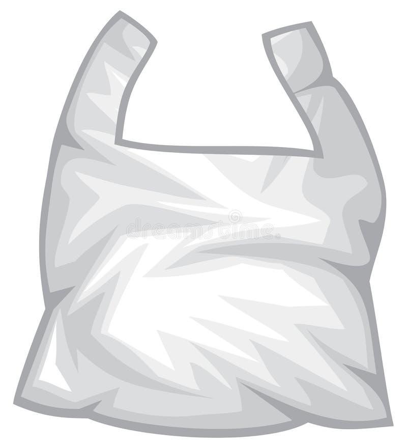 Illustrazione di plastica di vettore della borsa di rifiuti illustrazione di stock