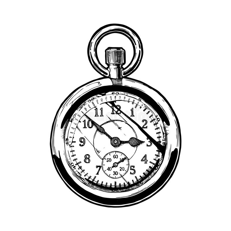 Illustrazione di pocketwatch illustrazione vettoriale