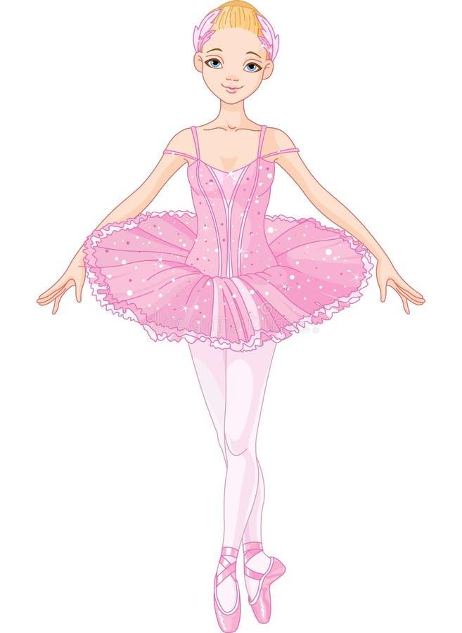 Ballerina rosa illustrazione di stock