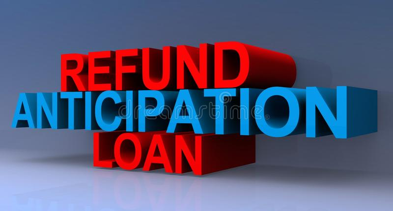 Illustrazione di prestito di anticipazione di rimborso illustrazione vettoriale