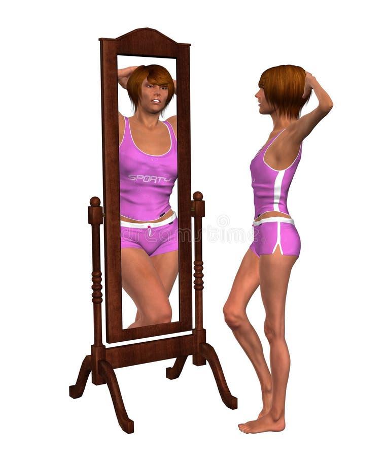Illustrazione di problema di gestione del peso di anoressia illustrazione di stock