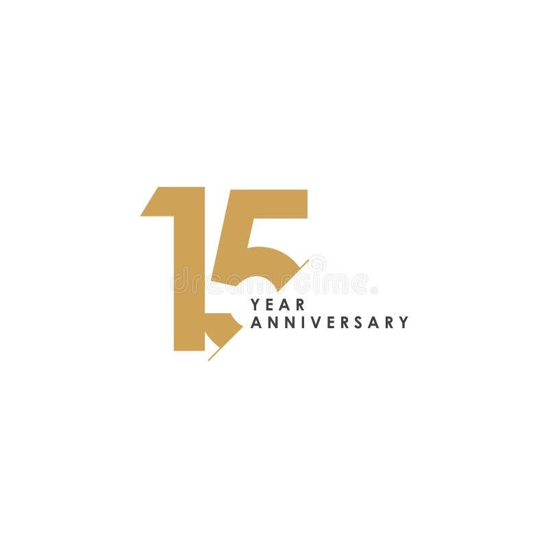 Illustrazione di progettazione del modello di vettore di anniversario di 15 anni royalty illustrazione gratis
