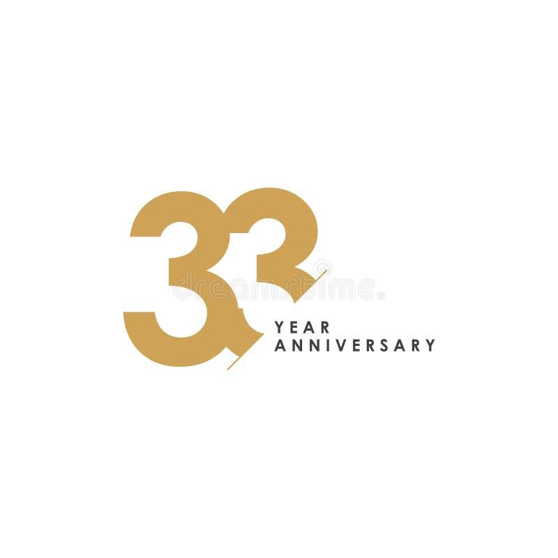 Anniversario Di Matrimonio 33 Anni.Illustrazione Di Progettazione Del Modello Di Vettore Di