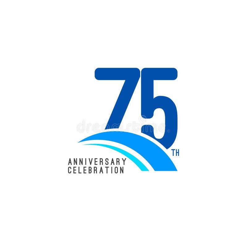 Illustrazione di progettazione del modello di vettore di celebrazione di anniversario di 75 anni royalty illustrazione gratis