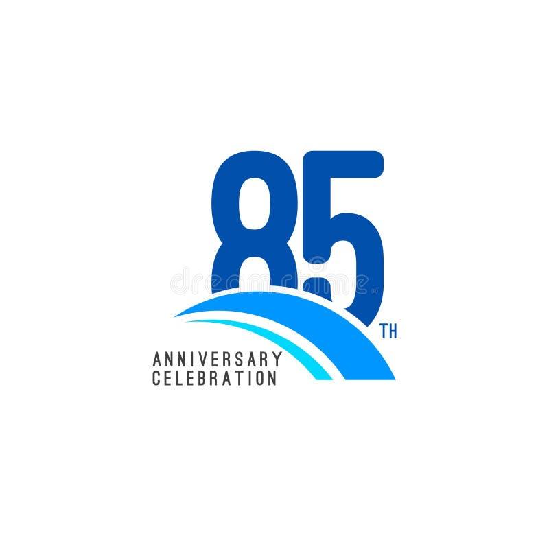 Illustrazione di progettazione del modello di vettore di celebrazione di anniversario di 85 anni illustrazione di stock
