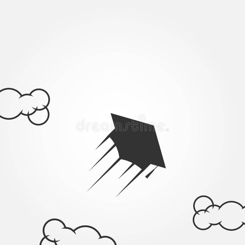 Illustrazione di progettazione del modello di vettore degli aquiloni illustrazione vettoriale