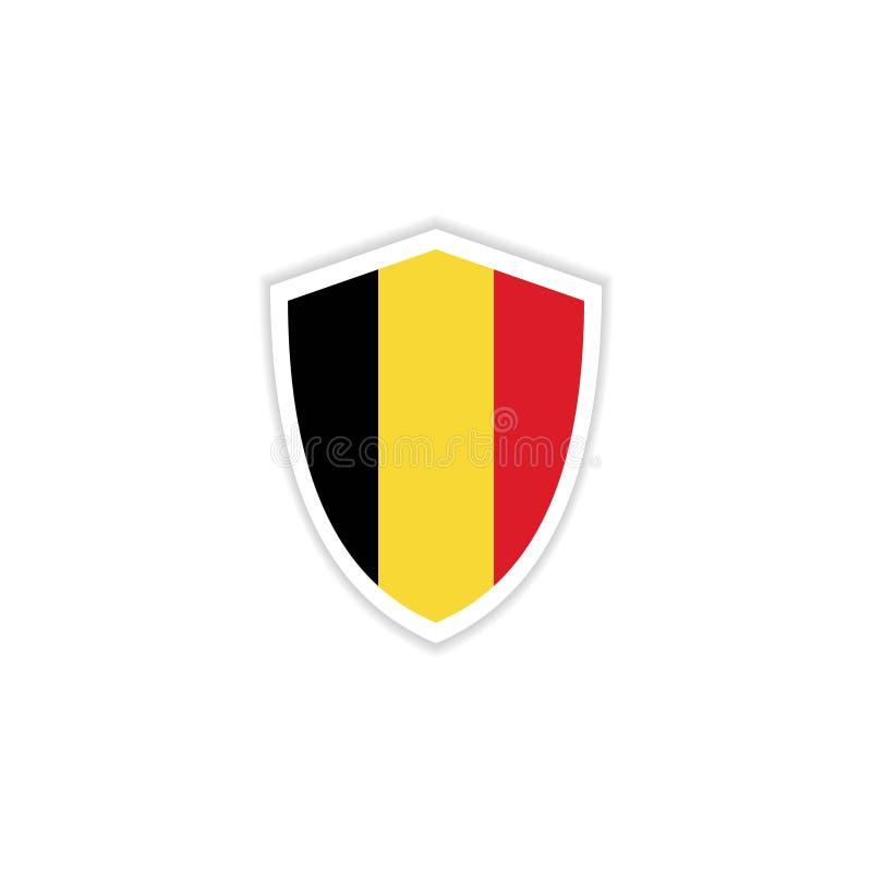 Illustrazione di progettazione del modello di vettore dell'emblema della bandiera del Belgio illustrazione di stock