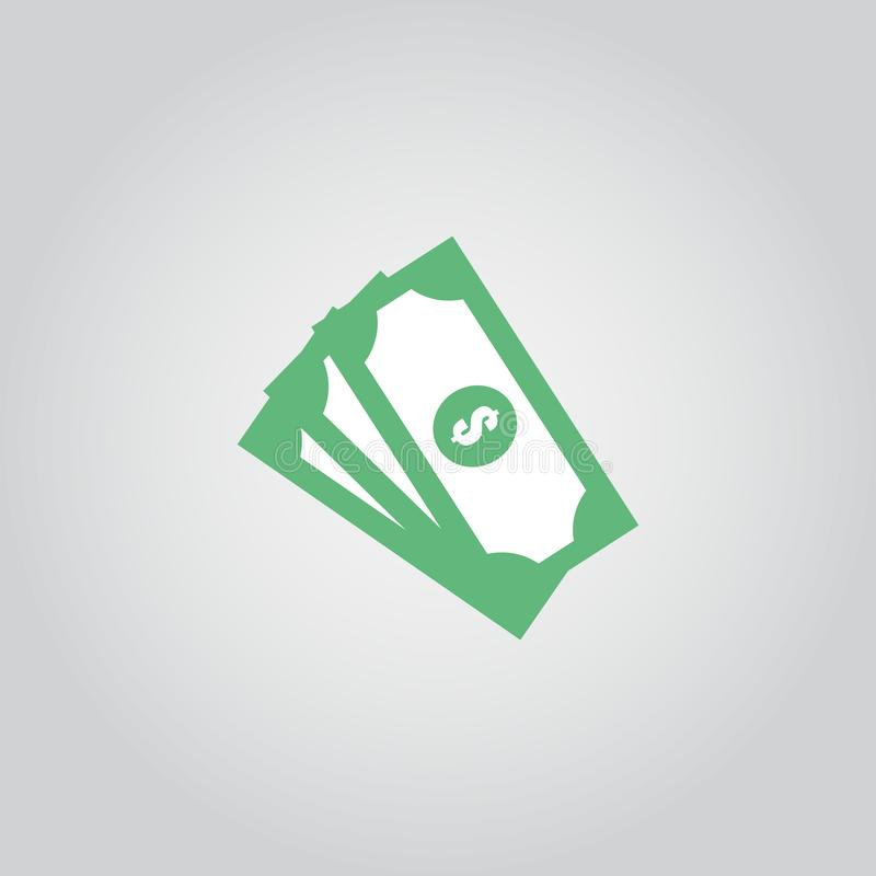 Illustrazione di progettazione del modello di vettore dell'icona dei soldi illustrazione di stock