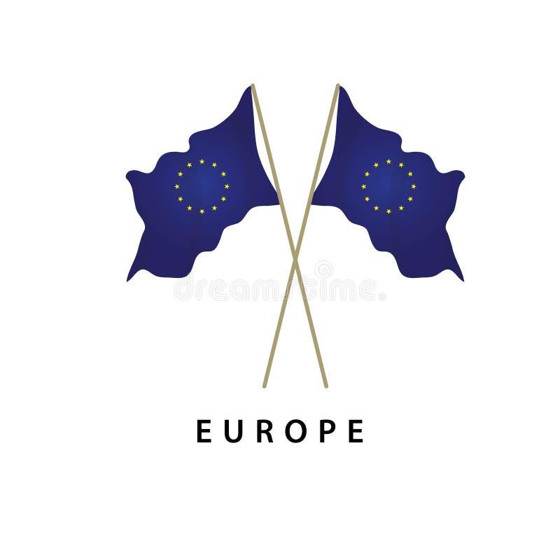 Illustrazione di progettazione del modello di vettore della bandiera di Europa royalty illustrazione gratis