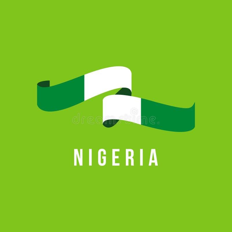 Illustrazione di progettazione del modello di vettore della bandiera della Nigeria royalty illustrazione gratis