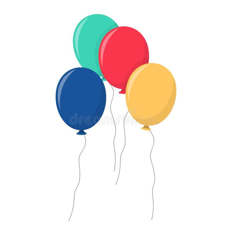 Illustrazione di progettazione di vettore di impulsi della festa di compleanno isolata su fondo bianco immagine stock