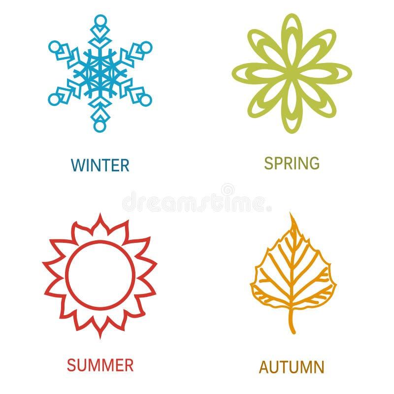 Illustrazione di quattro stagioni royalty illustrazione gratis