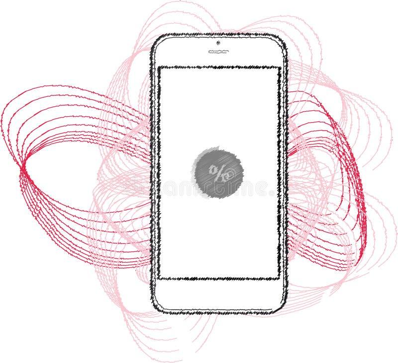 Illustrazione di rappresentazione di Smartphone fotografie stock libere da diritti