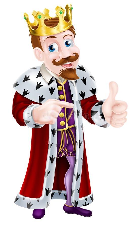 Illustrazione di re del fumetto royalty illustrazione gratis