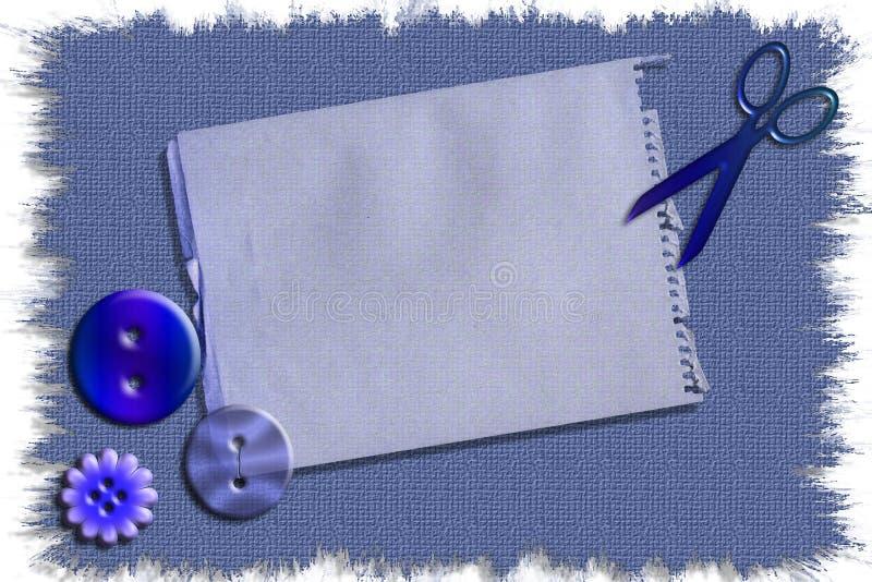 Illustrazione di riserva del mestiere di cucito stazionaria illustrazione vettoriale
