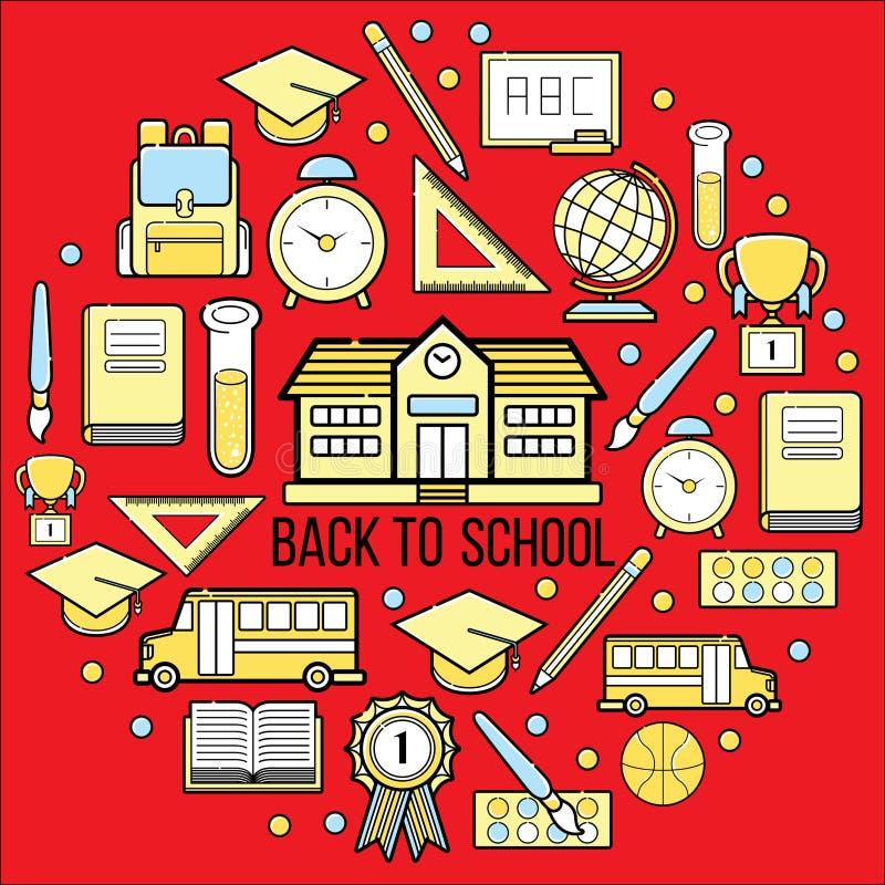 Illustrazione di riserva dell'insieme di web dell'icona della scuola royalty illustrazione gratis
