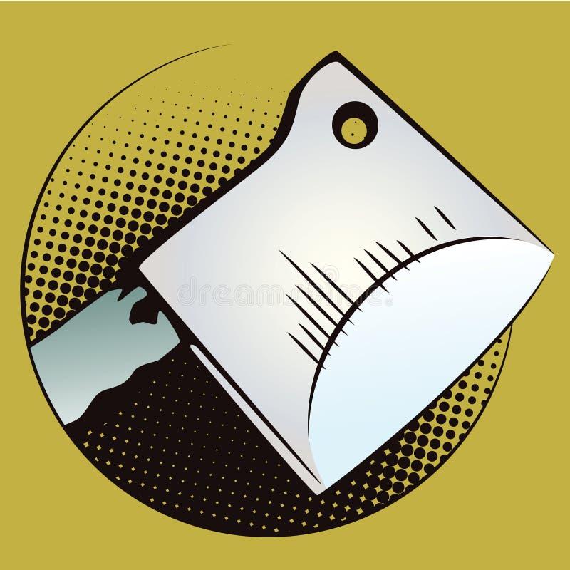 Illustrazione di riserva Obietti nel retro Pop art di stile e pubblicità dell'annata hatchet illustrazione vettoriale