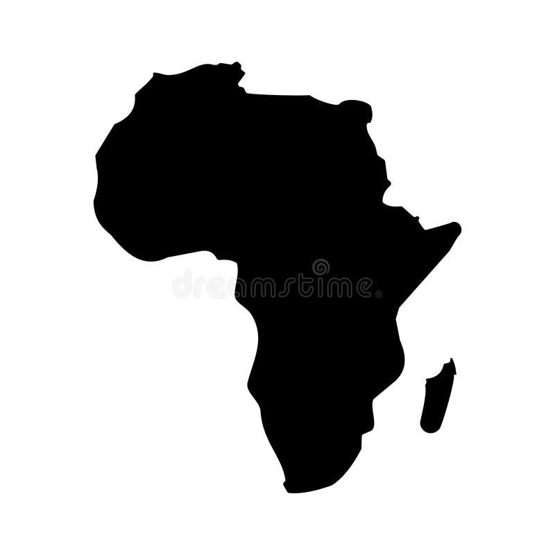 Illustrazione di riserva 2 di vettore dell'icona della mappa dell'AFRICA di vettore illustrazione di stock