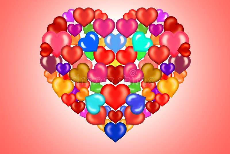 Illustrazione di rosa di colore rosa del biglietto di S. Valentino royalty illustrazione gratis