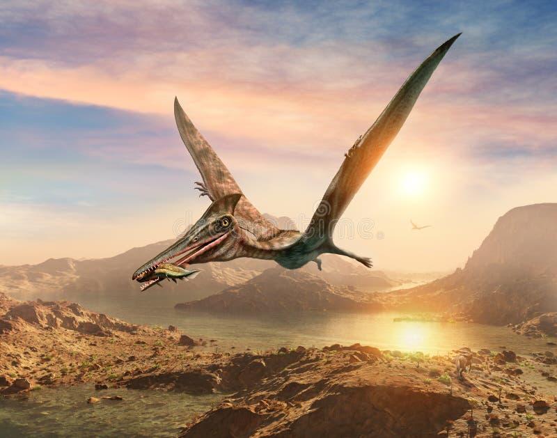 Illustrazione di scena 3D di Pterosaur illustrazione vettoriale