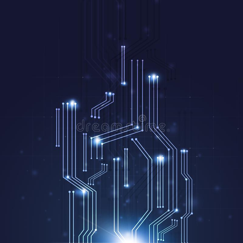 Illustrazione di schema di web di tecnologia illustrazione vettoriale