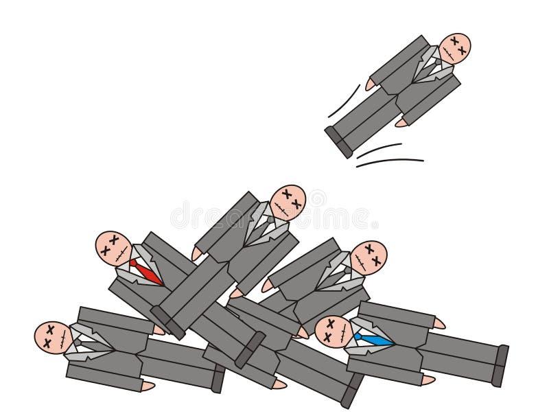 Illustrazione di scioglimento di crisi di disoccupazione immagine stock libera da diritti