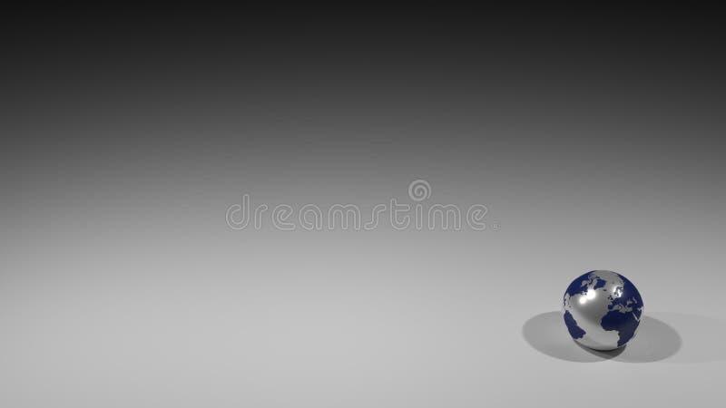 Illustrazione di sfondo Un globo in fondo grigio illustrazione di stock