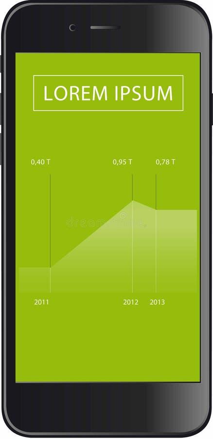 Illustrazione di Smartphone fotografie stock libere da diritti