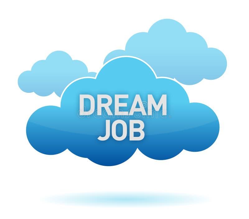 Illustrazione di sogno della nube di lavoro illustrazione di stock