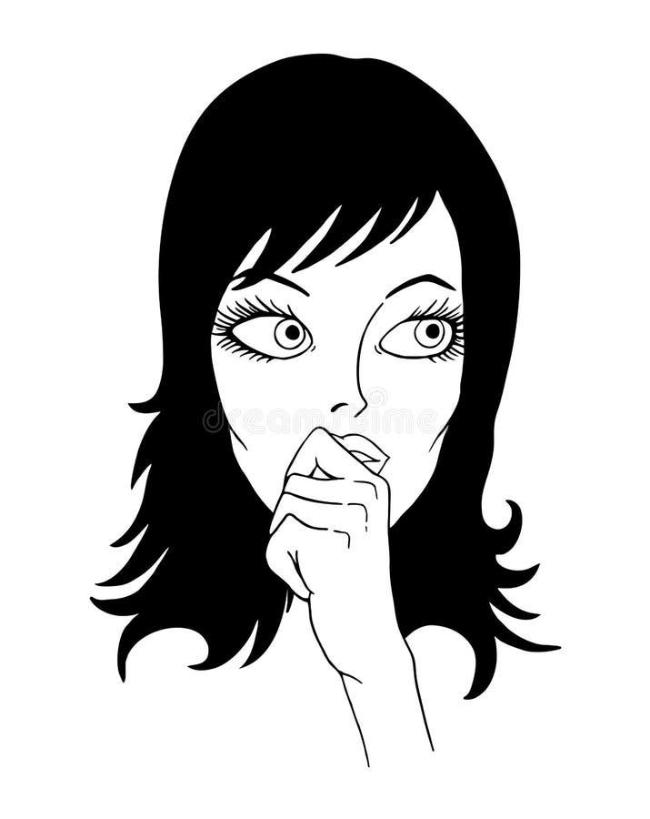 Illustrazione di sorveglianza della donna royalty illustrazione gratis