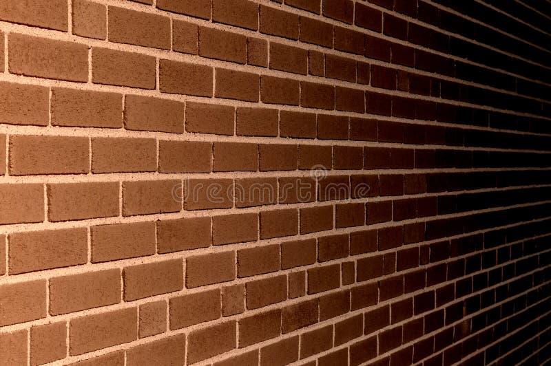 Illustrazione di struttura del fondo del muro di mattoni di Brown fotografia stock