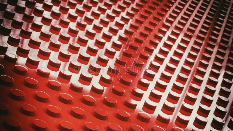 illustrazione di superficie del fondo 3d dei mattoni del giocattolo della costruzione illustrazione di stock