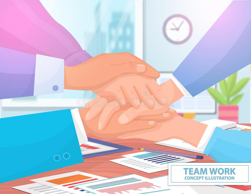 Illustrazione di Team Work Concept Colorful Vector illustrazione di stock