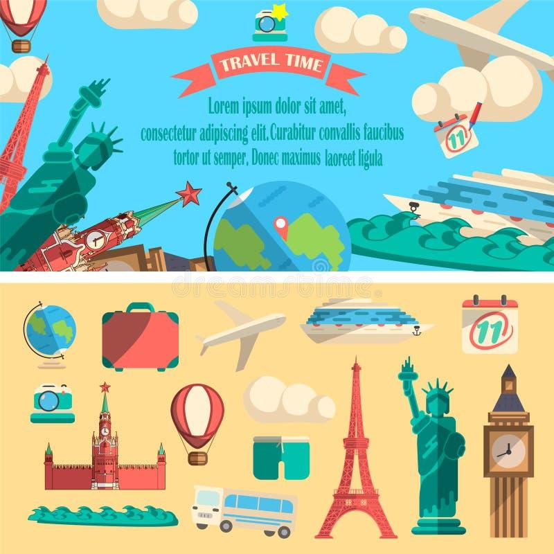 Illustrazione di tempo di viaggio illustrazione di stock