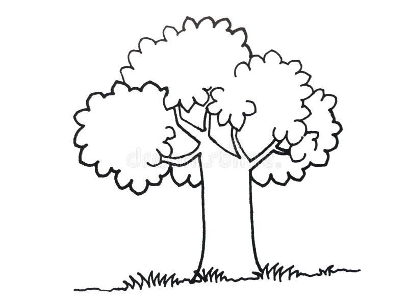 Illustrazione di un albero royalty illustrazione gratis