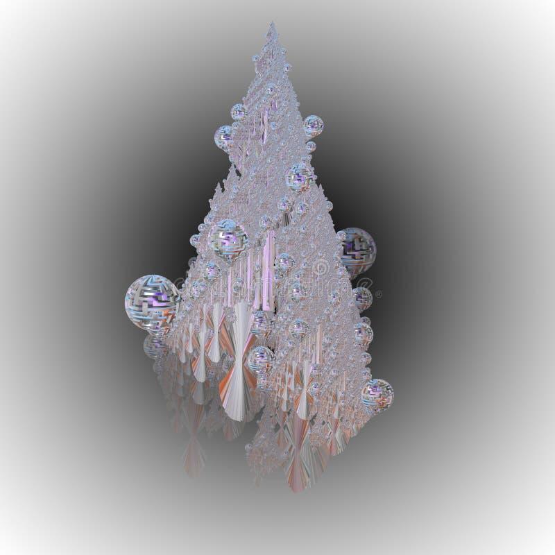 Illustrazione di un albero di Natale fotografia stock