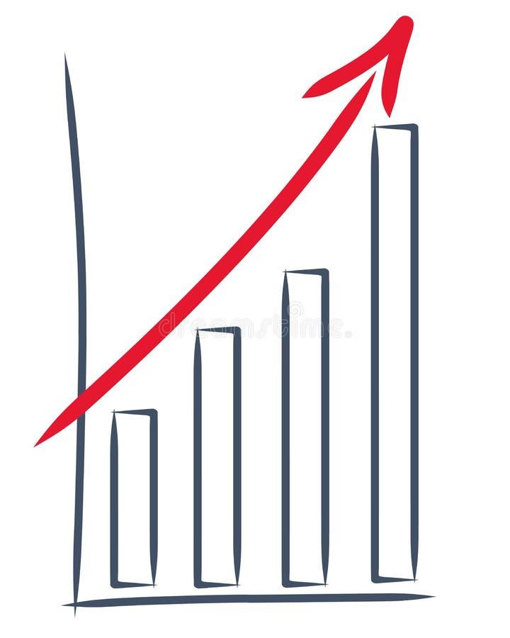 Illustrazione di un aumento di vendite royalty illustrazione gratis